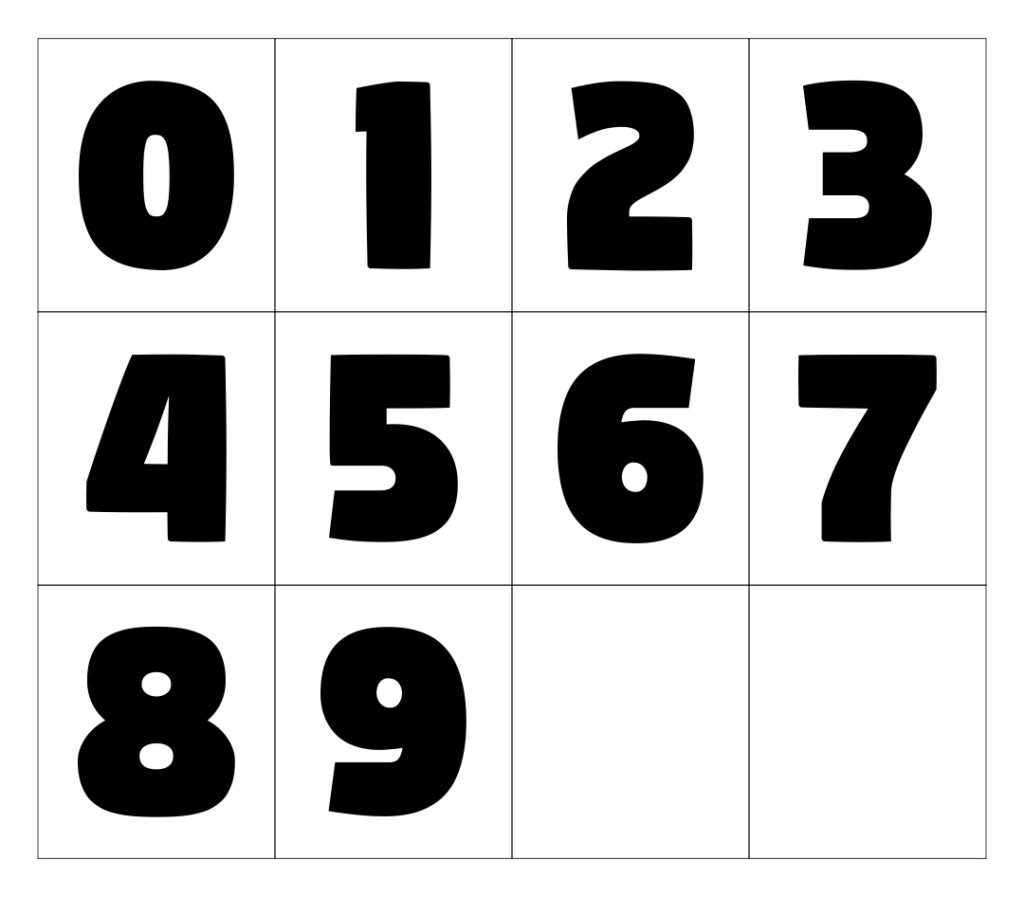 8 Best Images Of Large Printable Numbers 0 9 Free