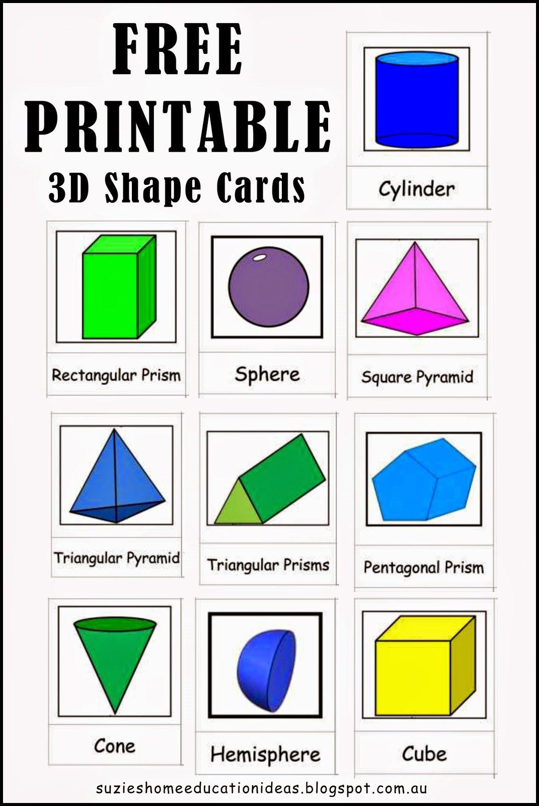 Exploring 3D Shapes Education Elementary Math