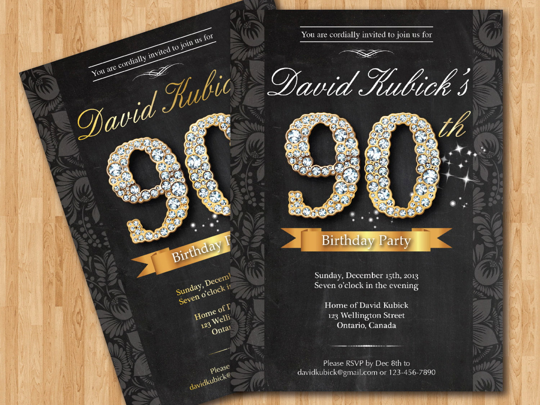 Free Printable 90th Birthday Invitations Bagvania FREE