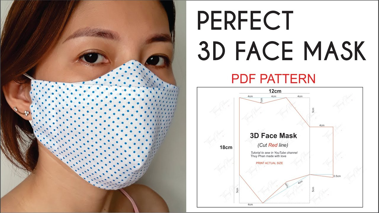 NO FOG ON GLASSES Perfect 3D Face Mask Best Fit