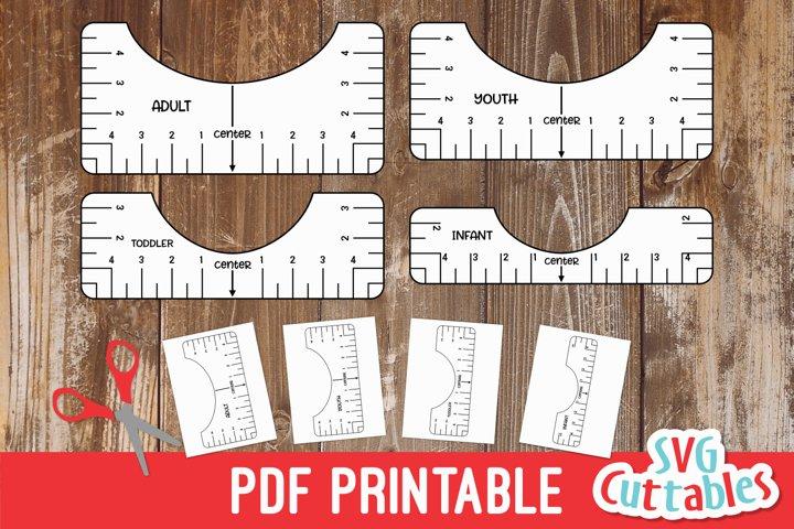 T shirt Alignment Tool PDF Printable 1010585 Cut
