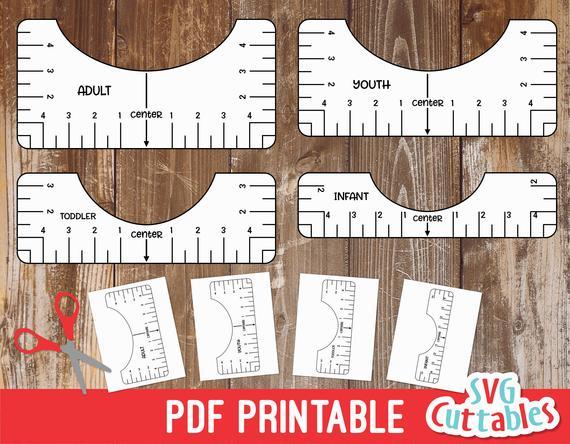 T shirt Alignment Tool Printable PDF Printable Digital