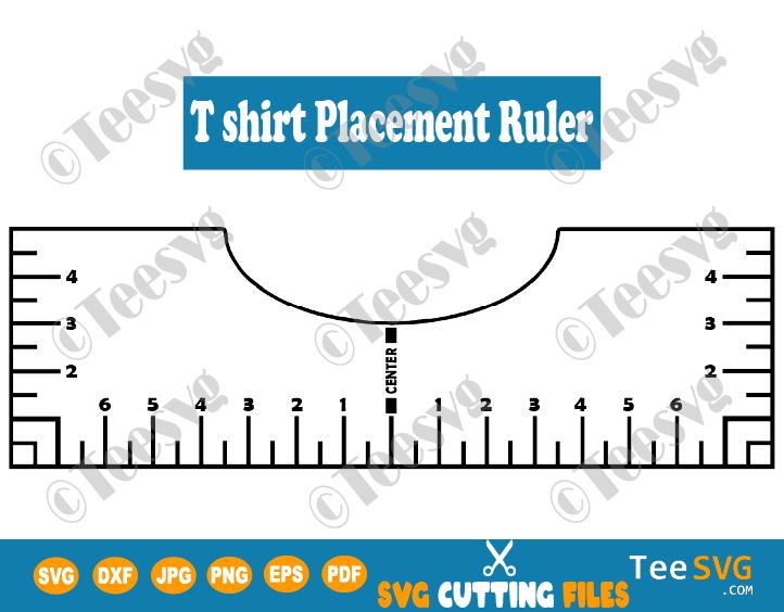 Tshirt Ruler SVG Guide T Shirt Placement Ruler SVG T Shirt