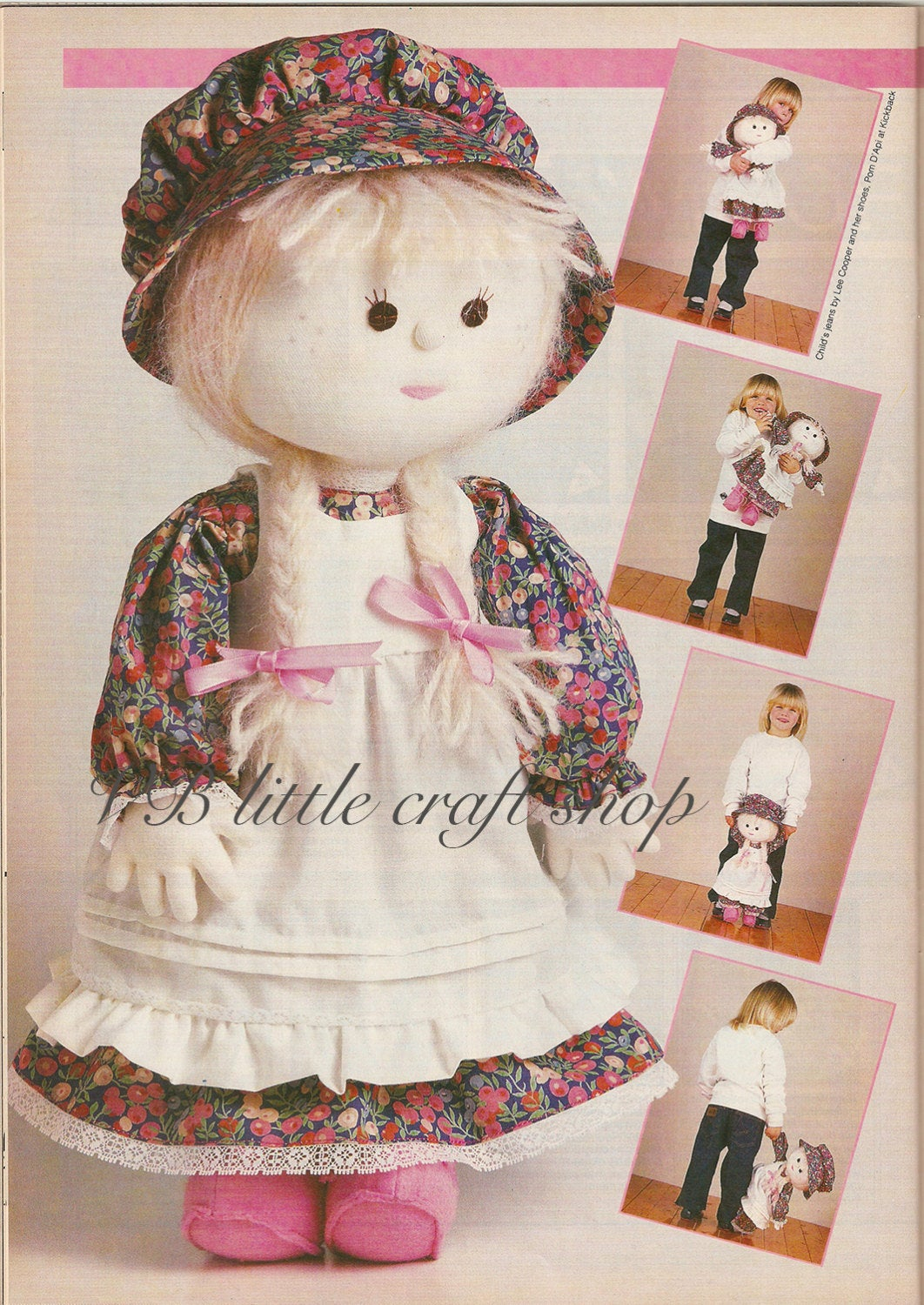Adorable Rag Doll Sewing Pattern Doll Is 50cm Tall Instant