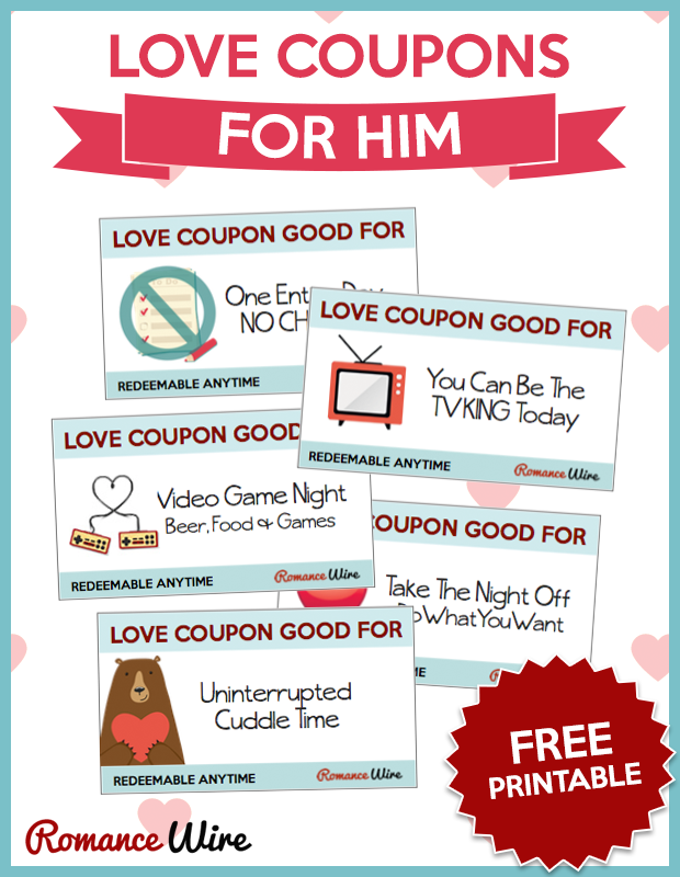 Awesome Love Coupons For Him Romance Wire