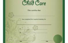 Child Care Certificate Printable Certificate
