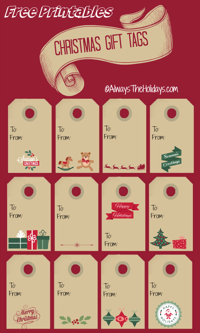 Christmas Labels Print Out These Christmas Gift Tags