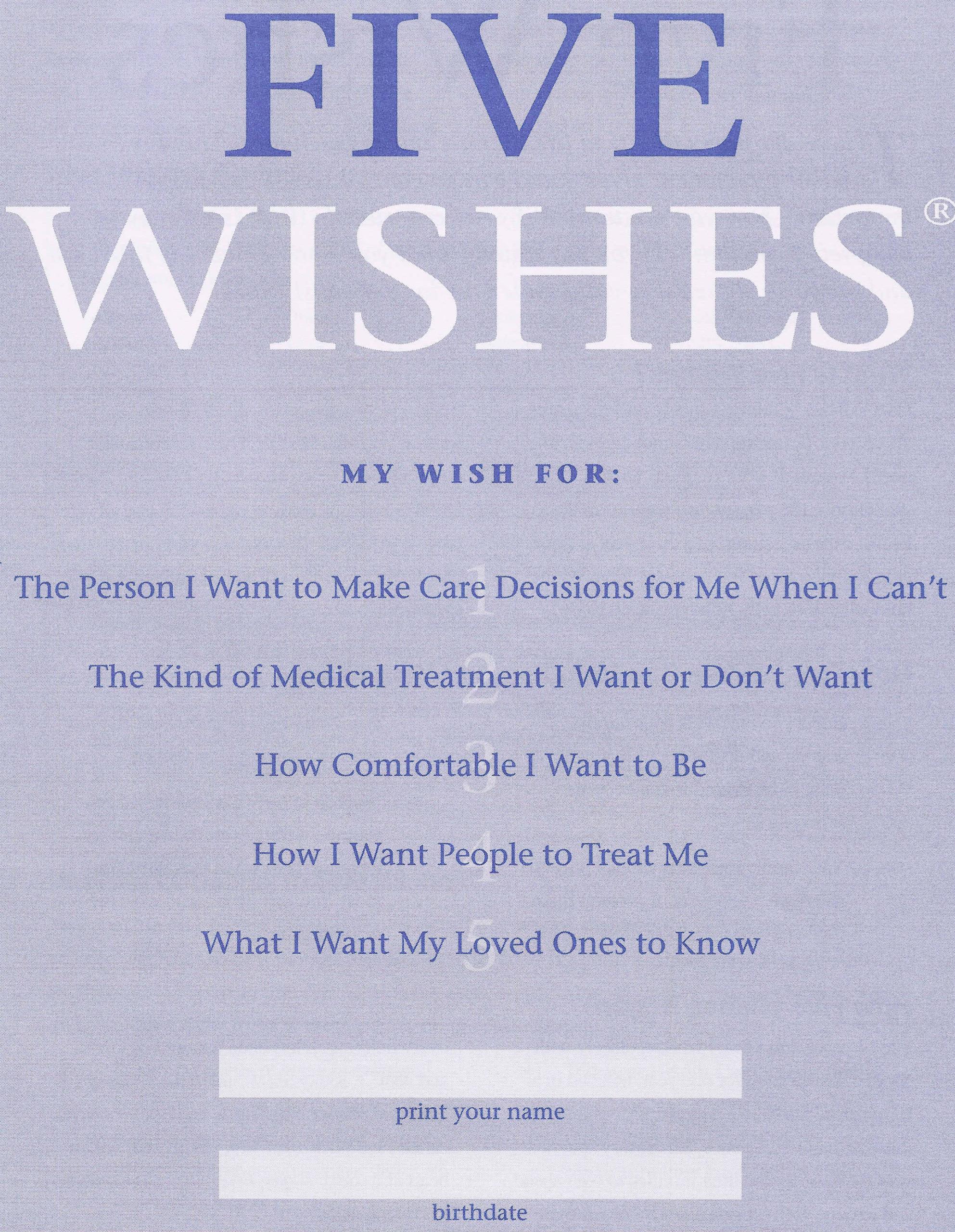 Five Wishes Hospice Of Montezuma