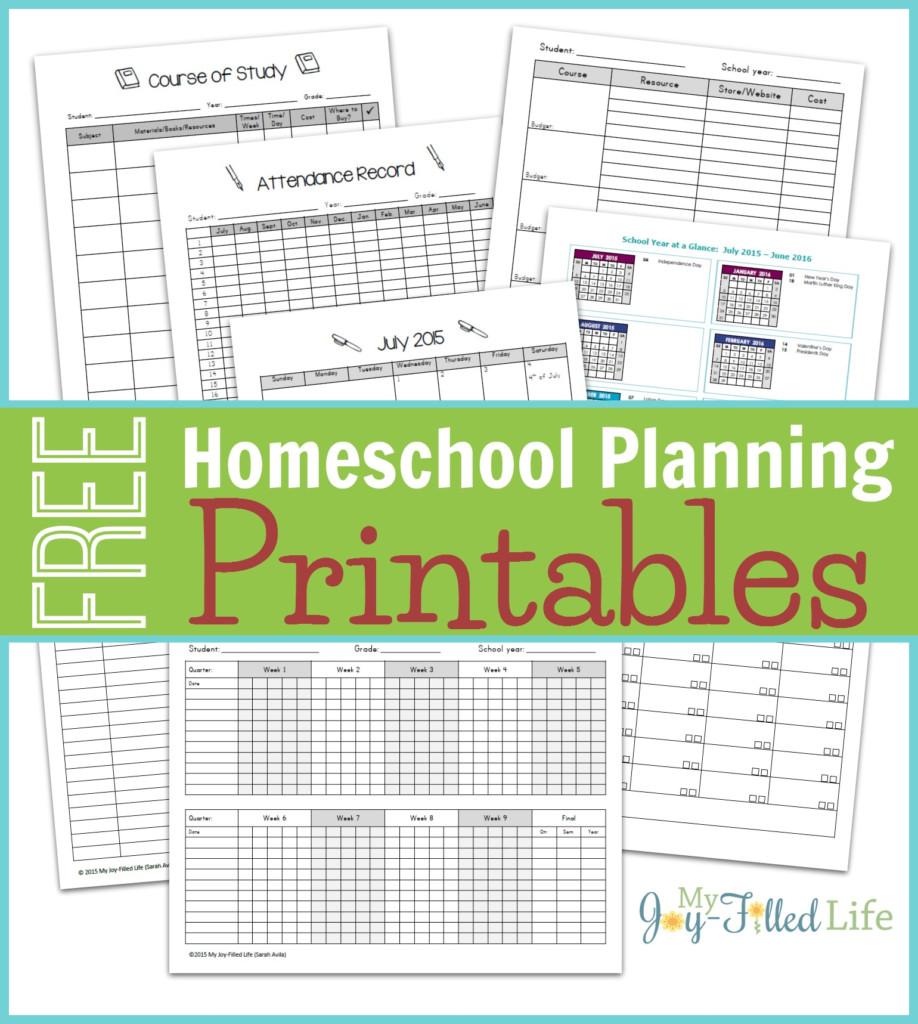FREE Homeschool Planning Printables 2015 16 Free