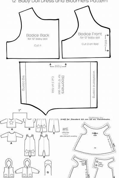 Free Printable 18 Doll Clothes Patterns American Girl Bing