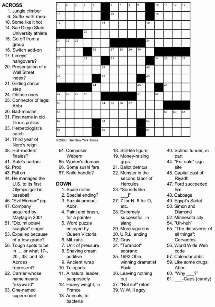 New York Times Sunday Crossword Printable In 2021 Daily