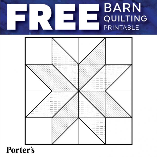 Printable Barn Quilt Patterns Blog Porter s Craft