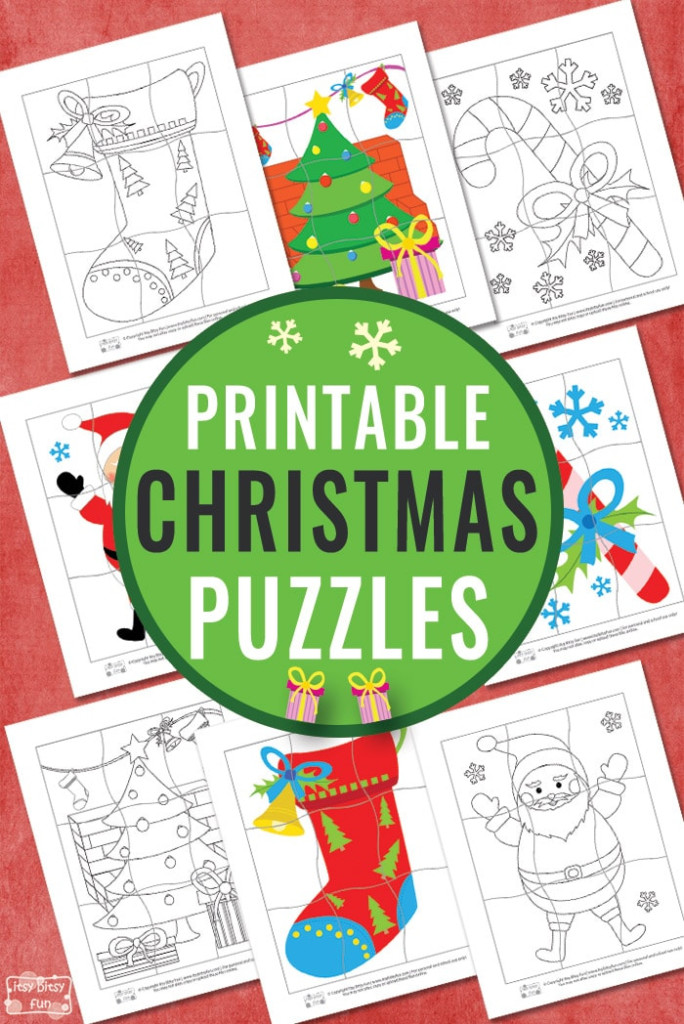 Printable Christmas Puzzles For Kids Itsybitsyfun