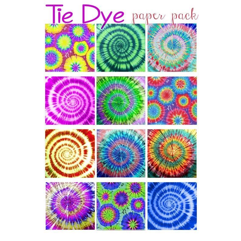 PRINTABLE PAPER DOWNLOAD Groovy Tie Dye Patterns