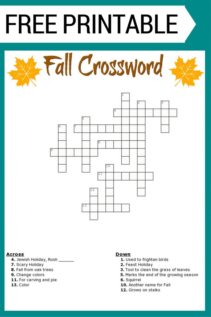 Teenage Crossword Puzzles Printable Free Printable