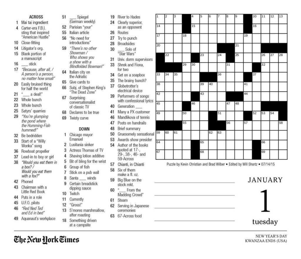 The New York Times Crossword Puzzles 2021 Day To Day