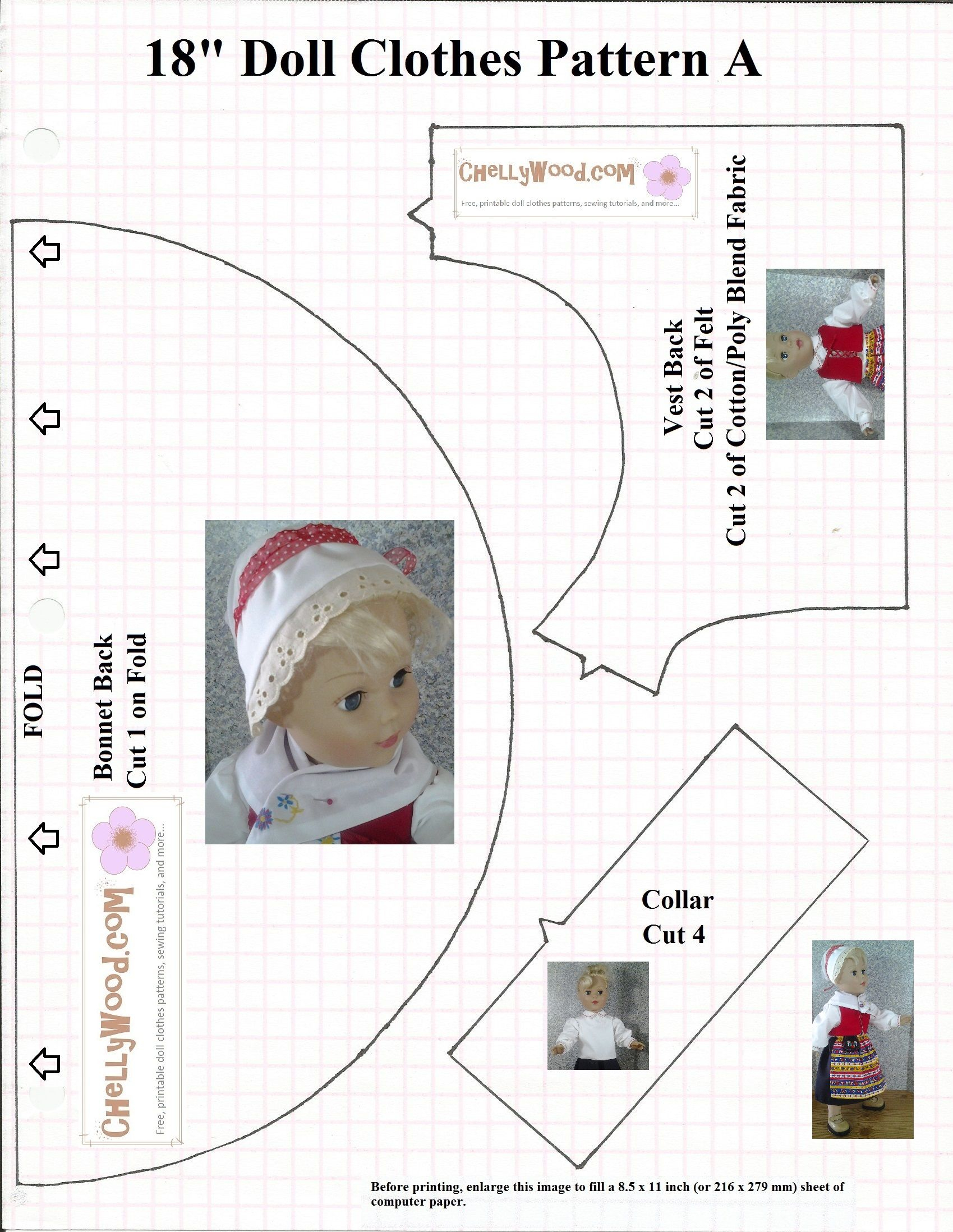 Visit ChellyWood For More Free Printable AG Doll