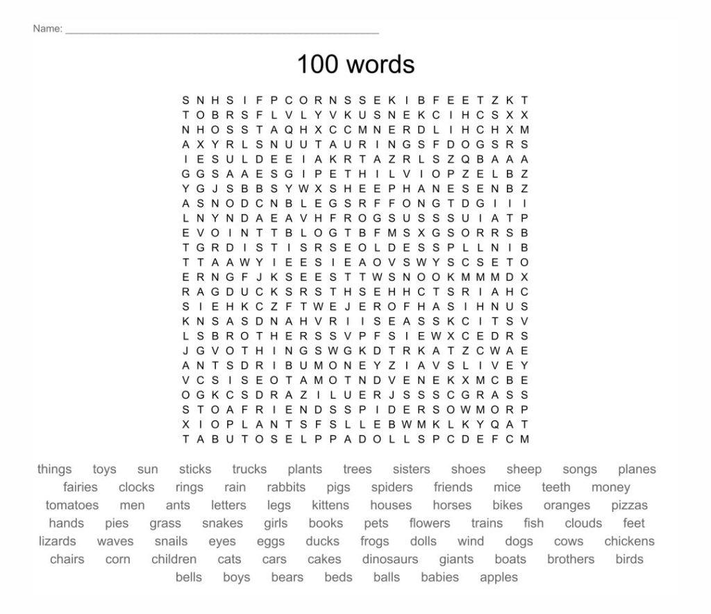 7 Best 100 Word Word Searches Printable Printablee
