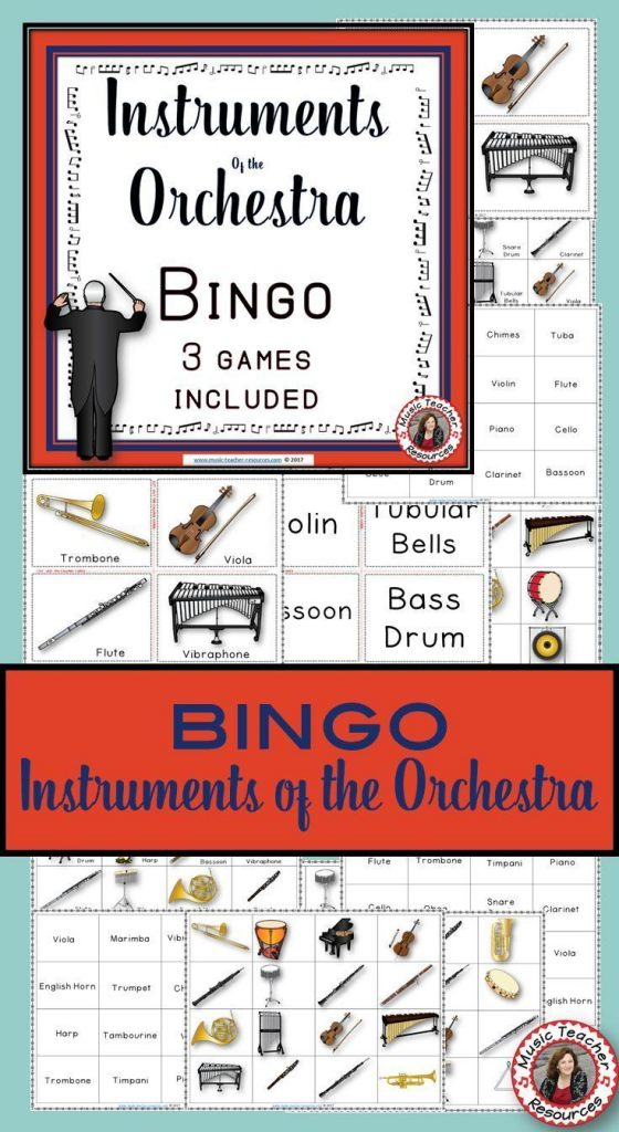 Musical Instruments Bingo Instruments Of The Orchestra