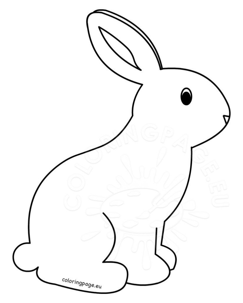 Printable Rabbit Coloring Pages For Kids Coloring Page