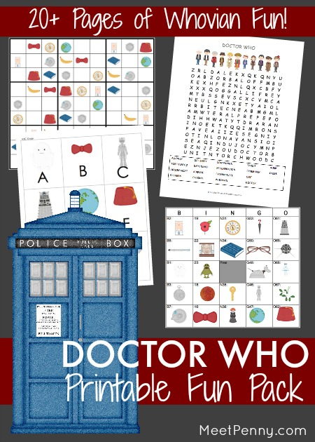 Doctor Who Inspired Fun Pack FREE Printable Free