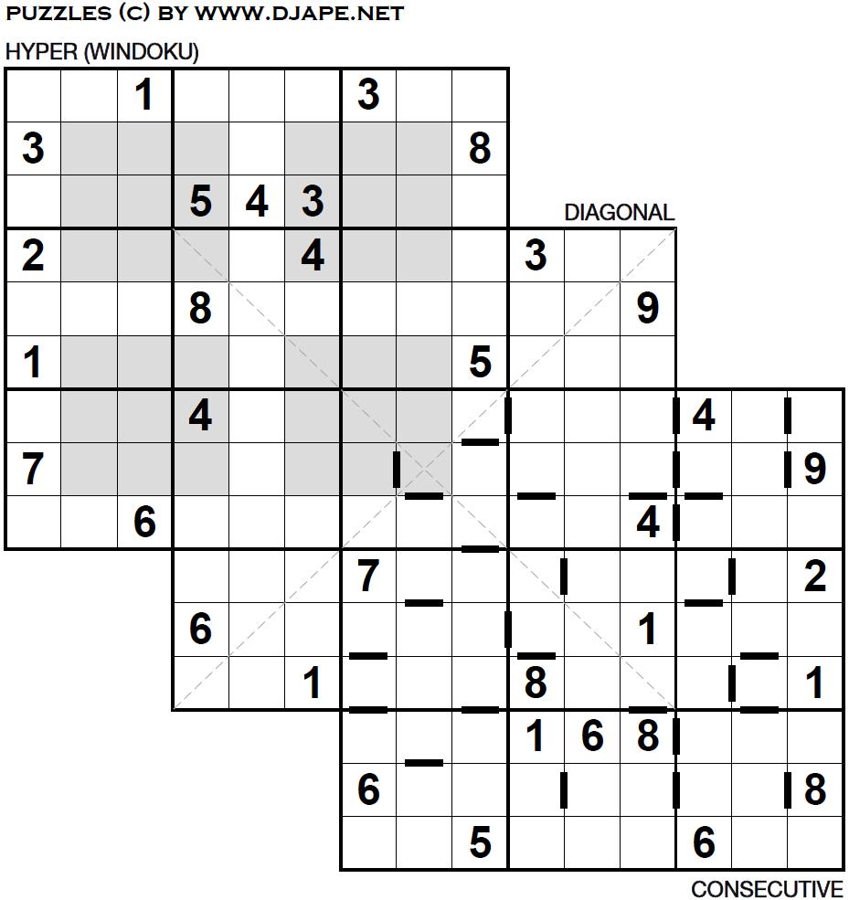 Wendy s Puzzle triple Loco Sudoku
