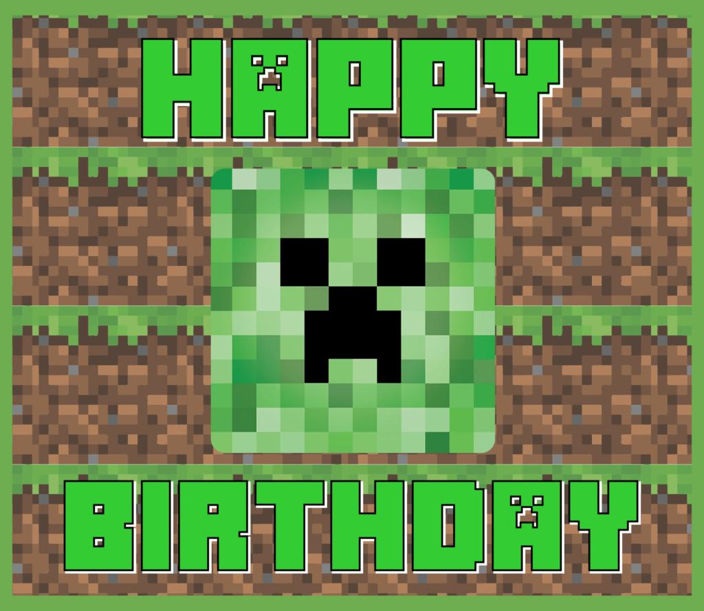 6 Best Minecraft Printable Happy Birthday Card