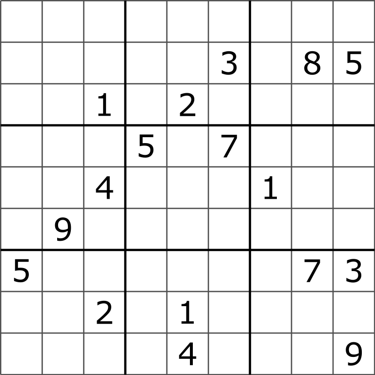 File Sudoku Puzzle Hard For Brute Force svg Wikimedia