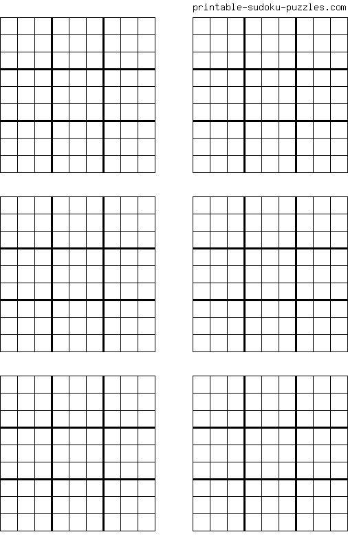 Free Printable Blank Sudoku Grids With Images Sudoku