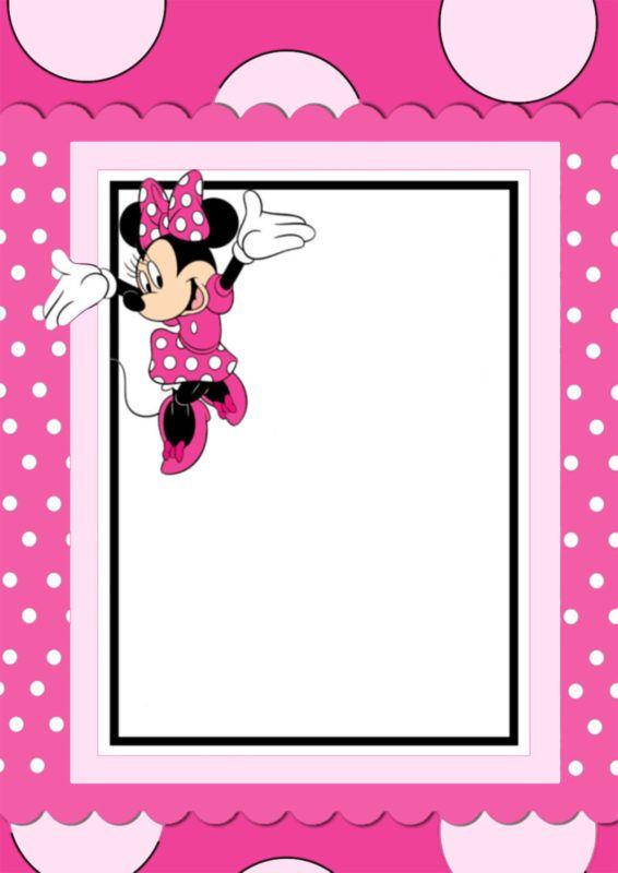 Free Printable Minnie Mouse Invitation Card Convite
