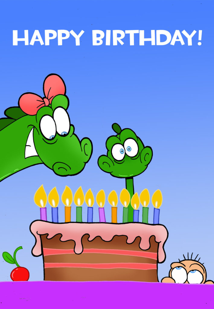 Happy Birthday Little Dinosaur Birthday Card Free