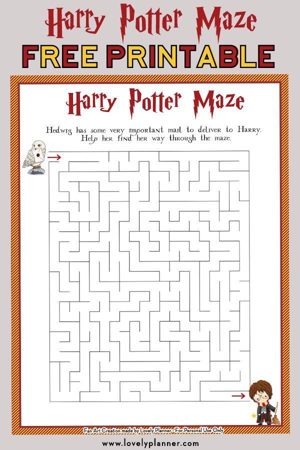 Harry Potter Maze Free Printable Kids Activity Sheet