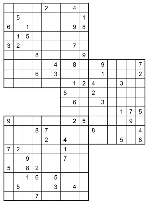 Multi Sudoku The Trio No 03