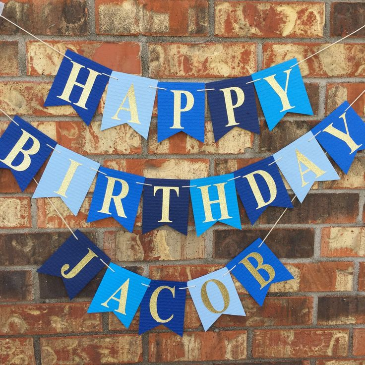 Personalized Blue Birthday Banner I Just Love These