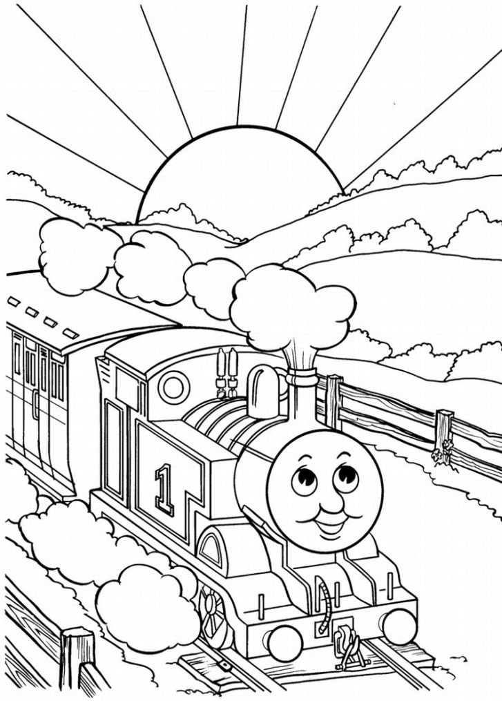 Thomas The Tank Engine Coloring Pages 14 Coloring Kids