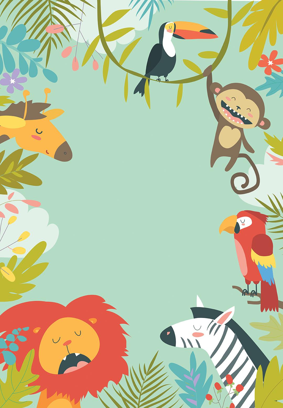 Wild Animals Birthday Card Free Greetings Island