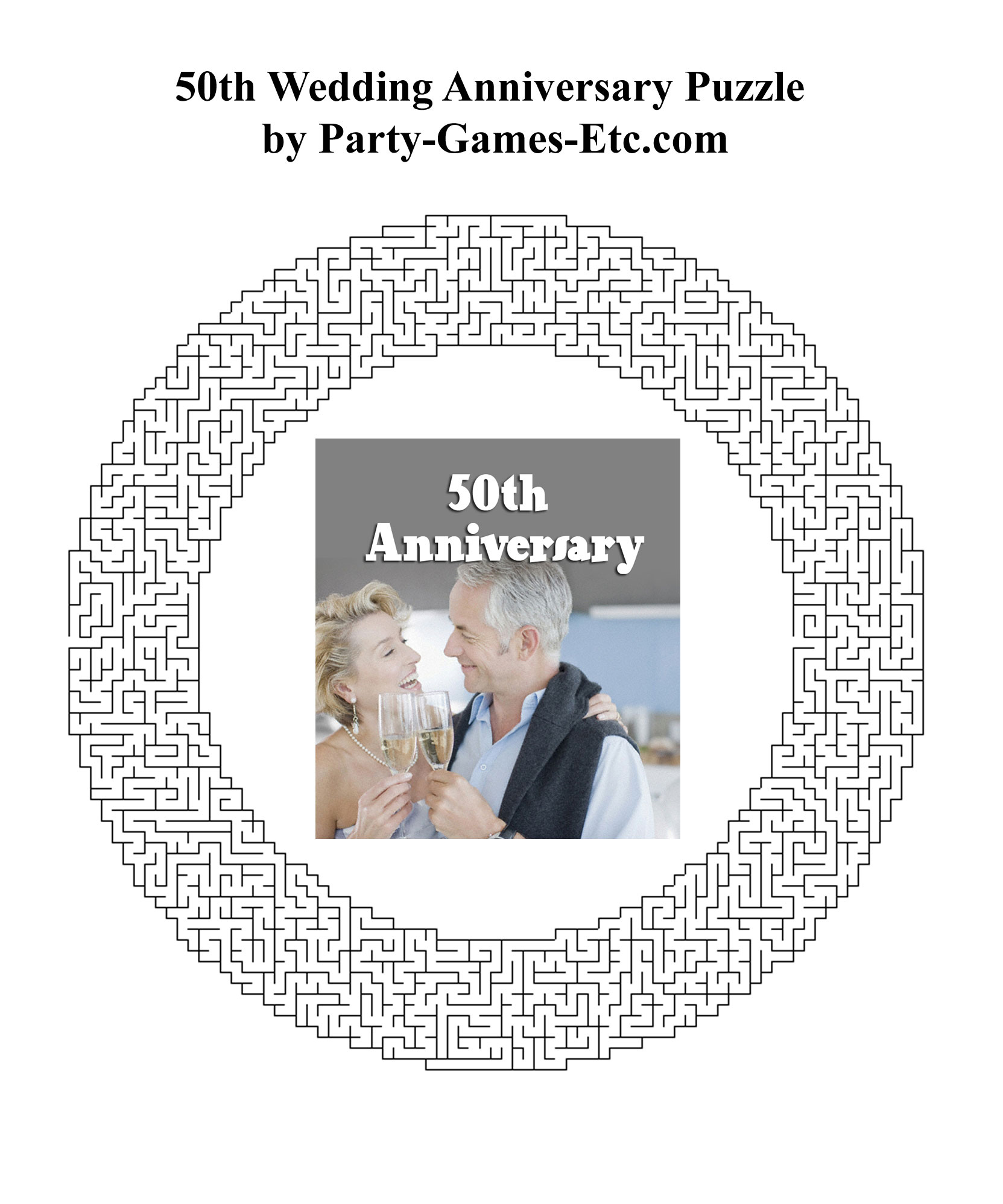 50th Wedding Anniversary Party Games Free Printable Games