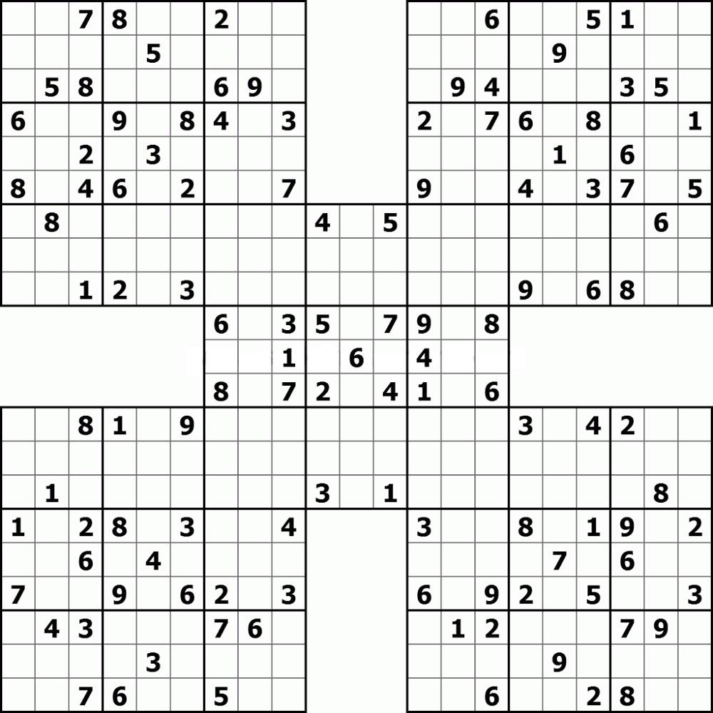 Easy To Hard Printable Sudoku High Fives 101 Activity