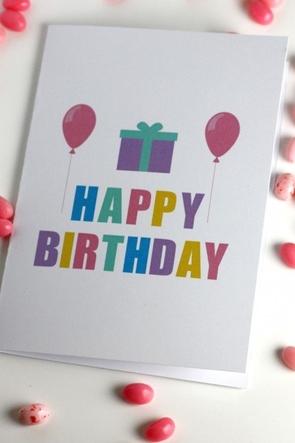 Free Printable Birthday Cards Perfect For Kids Adults