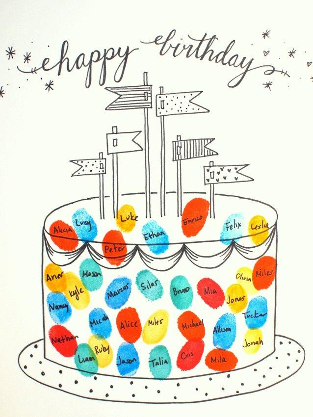 Free Printable Fingerprint Birthday Cards Pink Stripey Socks