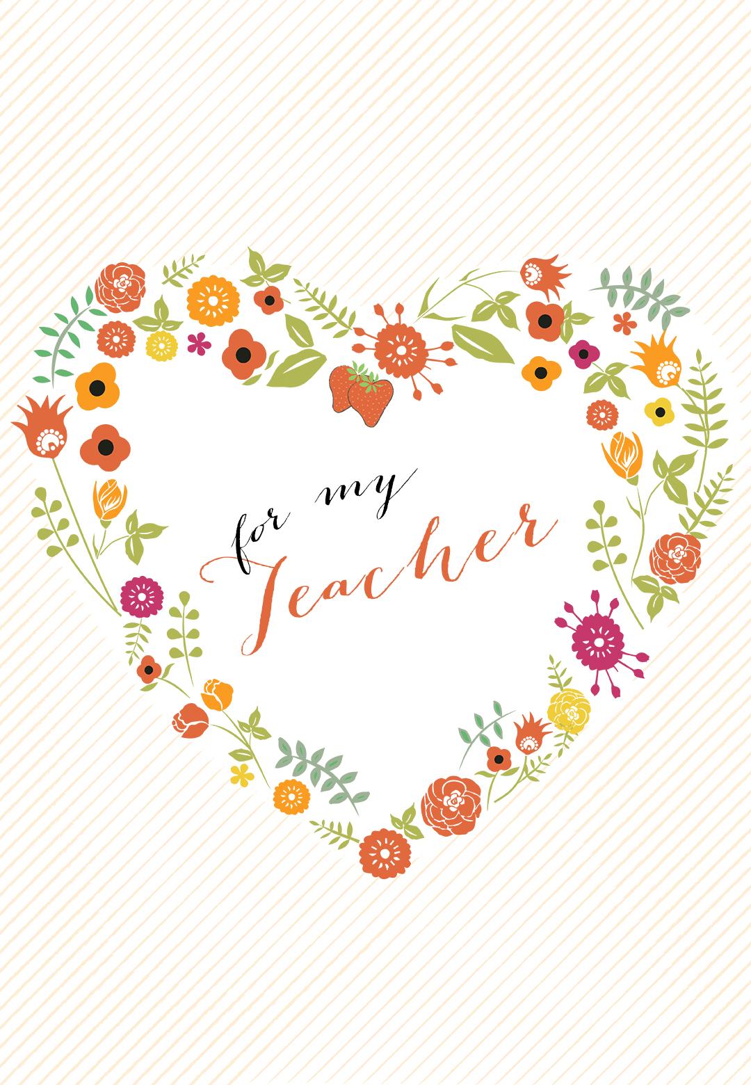 Heartfelt Teacher Thanks Thank You Card For Teacher