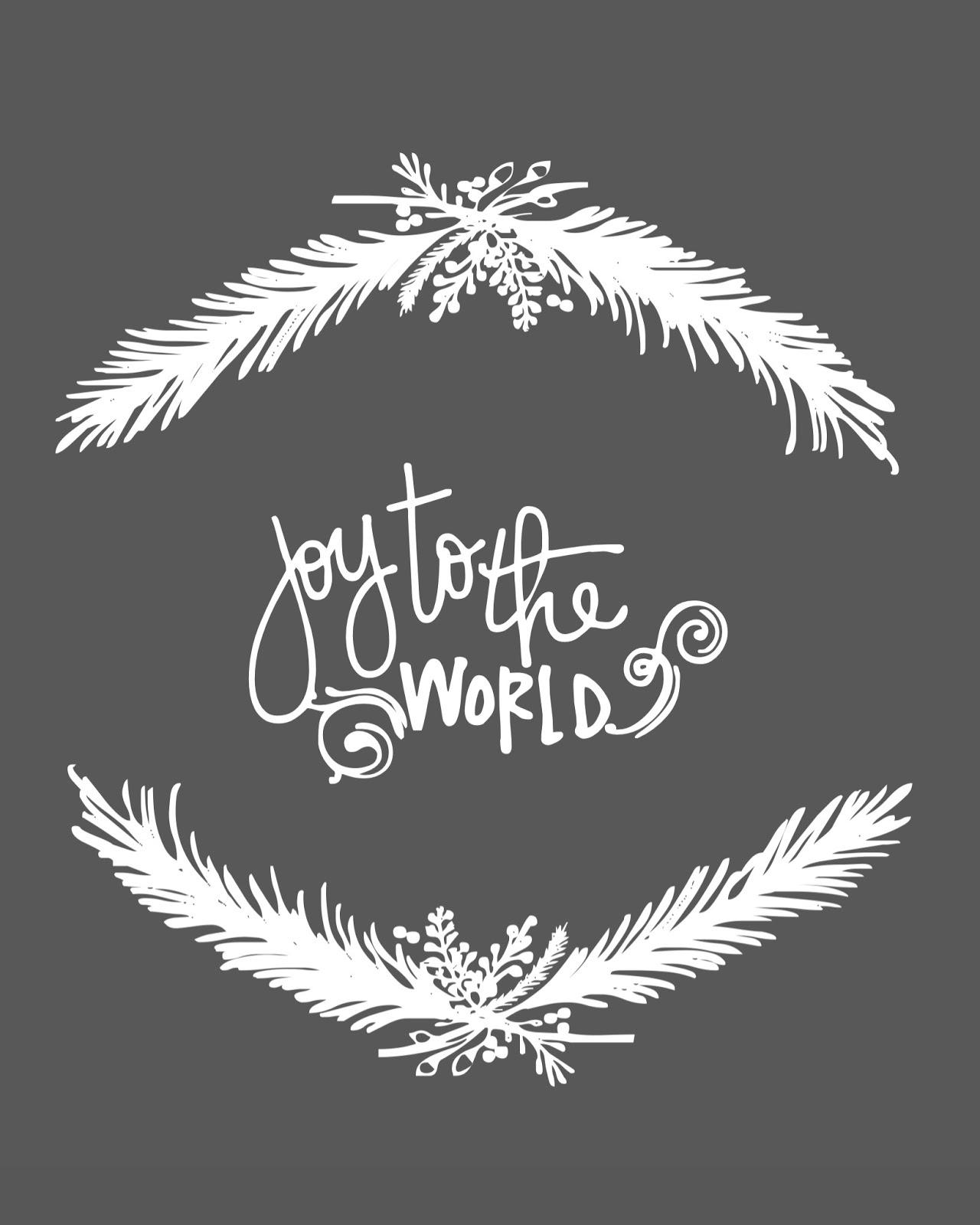 Joy To The World Christmas Free Printable A Vision To