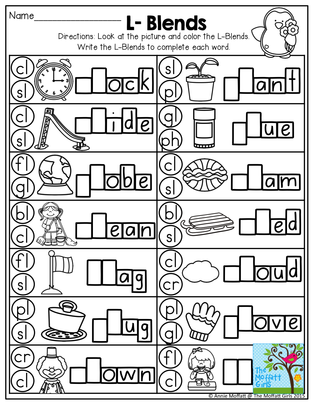 L Blends And TONS Of Other Great Printables Blends