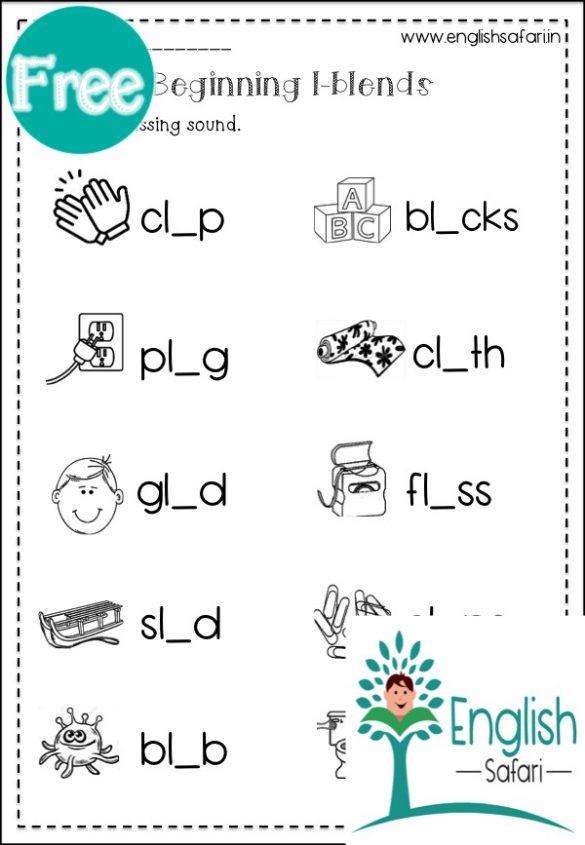 L Blends Words Worksheets FREE Www worksheetsenglish