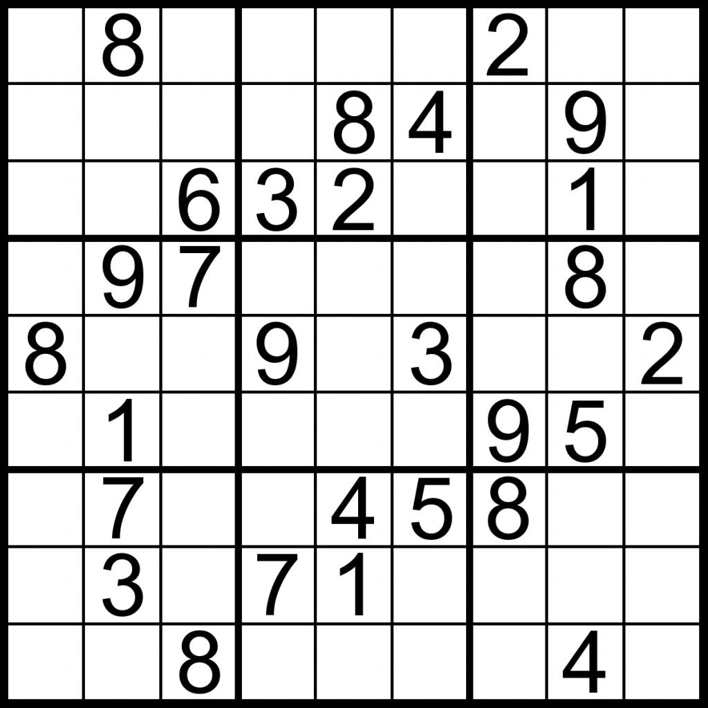 Printable Sudoku Printable Sudoku Puzzle Medium