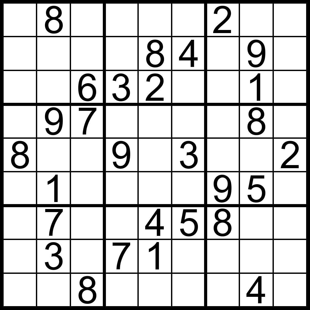 Sudoku Download Printable Sudoku Printable