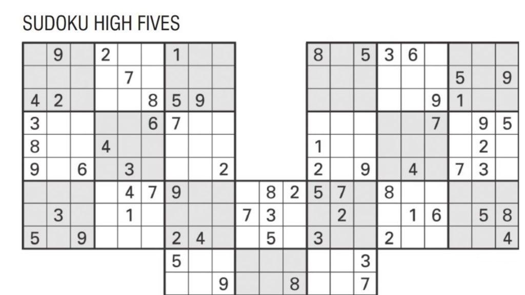 Sudoku High Fives Activity Shelter Sudoku High Fives