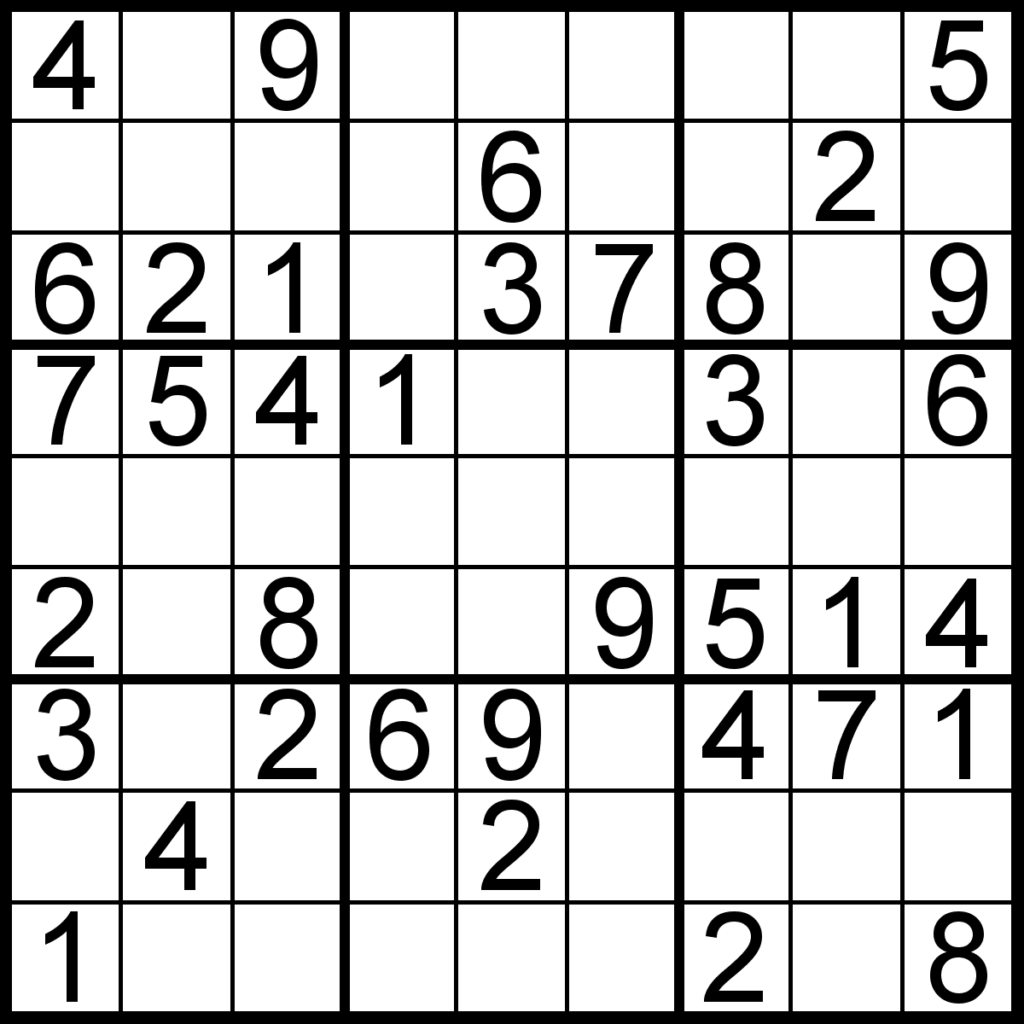 Sudoku Of The Day Bulletin Edition
