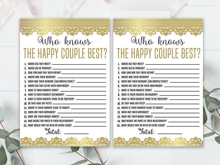 Wedding Anniversary Party Sheets Gold Game 50th Etsy In