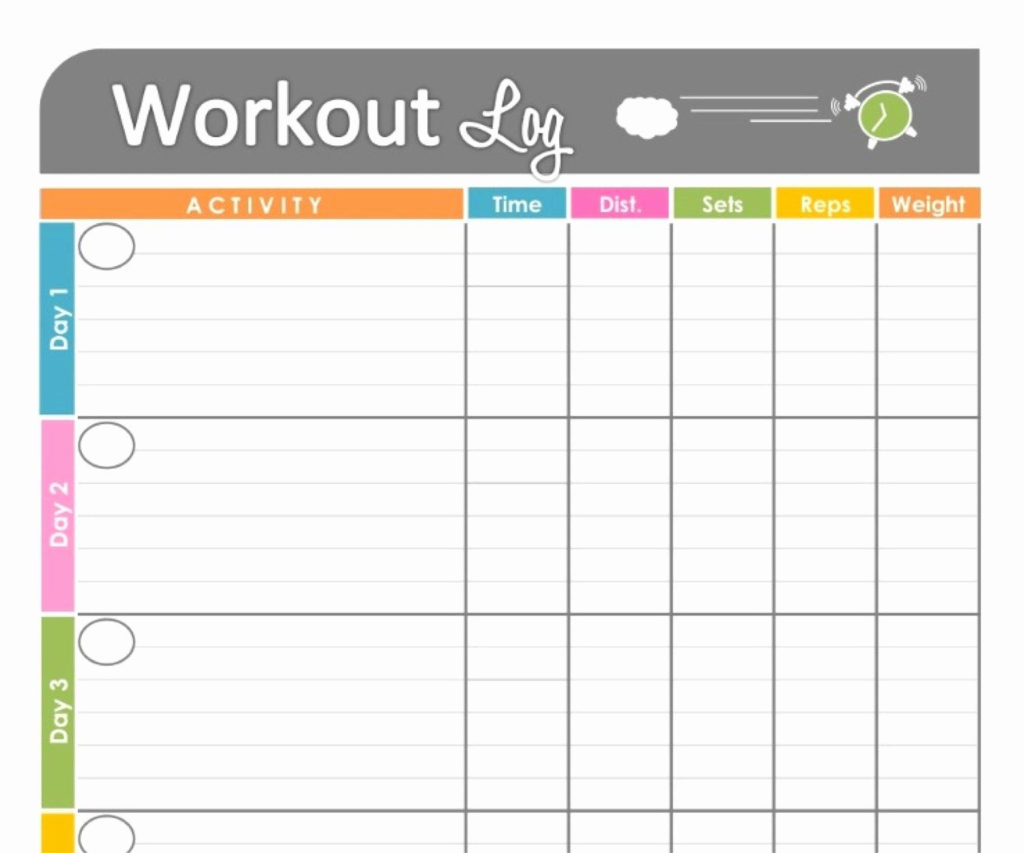 40 Weekly Workout Schedule Template In 2020 Workout Log